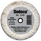 "Dedeco Lathe Wheels White ""Knock Down"" - ""Coarsest"" For Trimming Plaster"