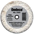 "Dedeco Lathe Wheels White ""Knock-Down"" Coarsest, for Trimming Plaster and Stone"