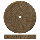 Dedeco Square-Edge Rubber Wheels - Brown Aluminum Oxide Extra Long-Lasting