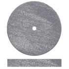 Dedeco Square-Edge Rubber Wheels - Grey Slicon Carbide Medium-hard for Finishing and Polishing