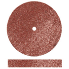 Dedeco Square-Edge Rubber Wheels - Red Flexies Medium Aluminum Oxide for Fast