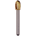 Euro Goldies D-3/8 Lathe Type, Titanium-Nitride Coated Carbide Bur. Single Bur