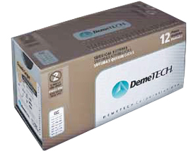 "DemeTECH 2/0, 18"" (45""cm) Chromic Gut Brown Suture with C7 Reverse cutting"