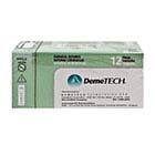"DemeTECH 4/0, 18"" Black Nylon Sutures with DFS-2 Circle Reverse Cutting needle"