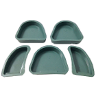Wondertech Silicone Base Formers, Set of 5, 1 of each: Small Full Arch, Medium