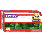 Zooby Nitrile exam gloves: Cheetah Cherry scented and flavored, SMALL