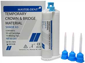 Master-Dent Temporary Crown & Bridge Material, Sh