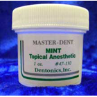 Master-Dent Mint Flavored Topical Anesthetic Gel, 1 ounce Jar