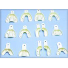 Master-Dent #10 solid lower anterior plastic impression tray, package of 12