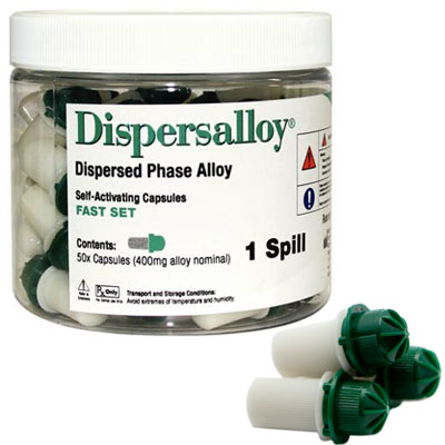 Dispersalloy Fast Set Single Spill (400 mg), 50 C