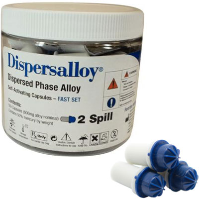 Dispersalloy Fast Set Double Spill (600 mg), 50 C