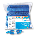 Ionite Dual Arch Fluoride Trays - LARGE, Blue 100/Pk. Convenient