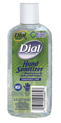 Dial Hand Sanitizer Fragrance And Dye Free Kills 99 99