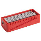 PractiPal Bur/Endo Stand - Red, holds up to either 16 burs or 28 files, Single