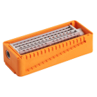 PractiPal Bur/Endo Stand - Orange, holds up to either 16 burs or 28 files