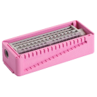 PractiPal Bur/Endo Stand - Pink, holds up to either 16 burs or 28 files, Single