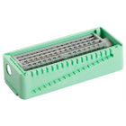 PractiPal Bur/Endo Stand - Mint Green, holds up to either 16 burs or 28 files