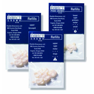 DirectCrown(R) Adult Posterior Refill - 8 Shells/