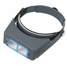 OptiVISOR Magnifier, 2.5X glass lenses, Fully adjustable headband