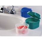Dr. Fresh Premium Denture Bath, All-in-one Solution for soaking & storing one full set