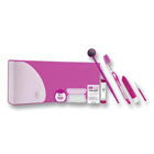 Dr. Fresh Ortho Kit Pencil Box 12/Pk. Kit includes a V-Trim toothbrush, travel toothbrush, dental