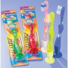 FireFly Suction Cup Toothbrushes 48/Box, Assorted Colors. Equipped for stand-up