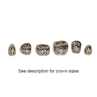 DSC 1st Permanent Molar Stainless Steel Crown Kit, Box of 72 assorted crowns