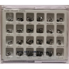 DSC 2nd Permanent bicuspid crown kit, stainless steel, package of 72 crowns