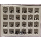 DSC 2nd Primary Molar Stainless Steel Crown Kit, Box of 72 assorted crowns
