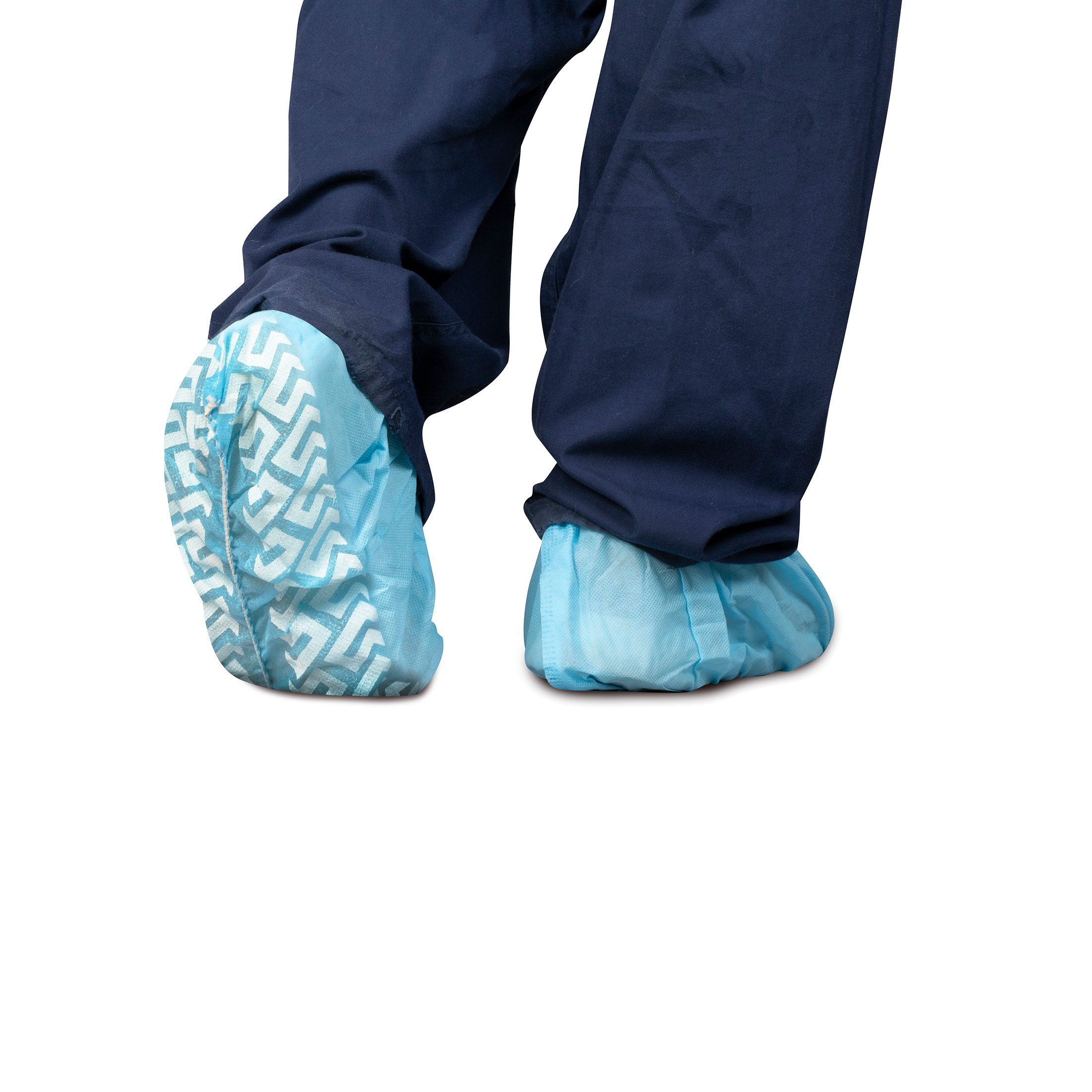 Dukal Shoe Covers, Non-Skid, PE, Blue, 100/Bag