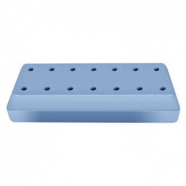 Bur Blocks 14 Hole Rectangular Baby Blue, Resin M