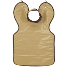 "DUX Dental Adult (23"" x 26"") BEIGE Vinyl X-Ray Apron with Attached Thyroid"