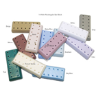 Bur Blocks 14 Hole Rectangular Light Mauve, Resin