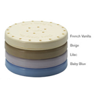 Bur Blocks 24 Hole Round French Vanilla Colored, Resin Magnetic Bur Block