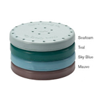 Bur Blocks 24 Hole Round Teal Resin Magnetic Bur Block. Provides Storage