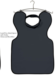 DUX Dental X-ray Apron Lead Free with Collar Adult Charcoal. *Special