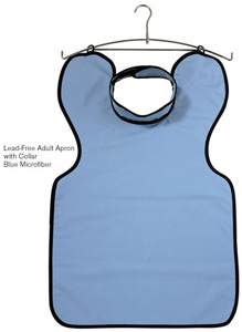 DUX Dental X-Ray Apron Lead Free Adult with Collar, Blue. *Special