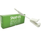 Snap-Its Single-Use Bib Holders 200/Bx. Recyclable Plastic, White, 14-3/4