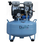 DynAir Portable Air Compressor Silent and Oil Free, 550W (3/4 HP). Tank