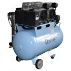 DynAir Air Compressor Silent and Oil Free, 1100W (1.5 HP). Tank Capacity 60L
