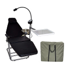Dynamic Portable Patient Dental Chair. Comes with a carrying bag. Includes LED
