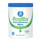 "SannyTize Hand Sanitizer Wipes, 5.9"" x 7.5"", 135/Canister. With moisturizing"