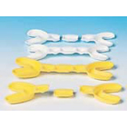 Eazitray Medium Yellow Hinged Dual Arch Fluoride Tray, Package of 100