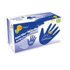 BeeSure SuperSlim Nitrile Exam Gloves: Small 300/Bx. Blue, Powder-Free, Textured Fingertips