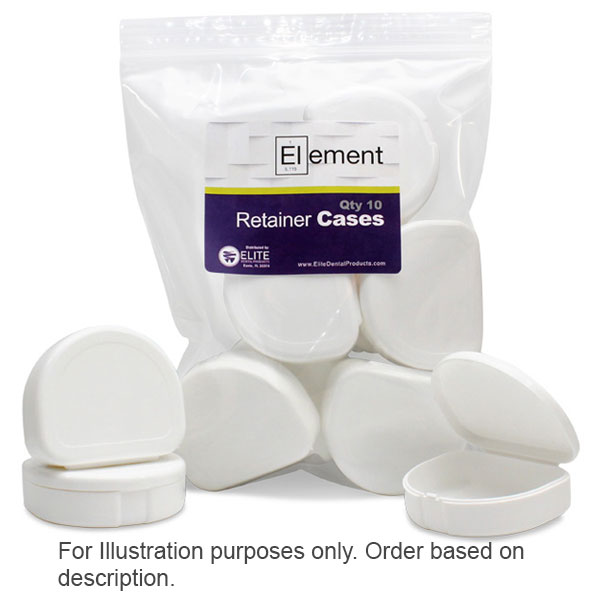 Element Orthodontic Retainer Case - White, Case o