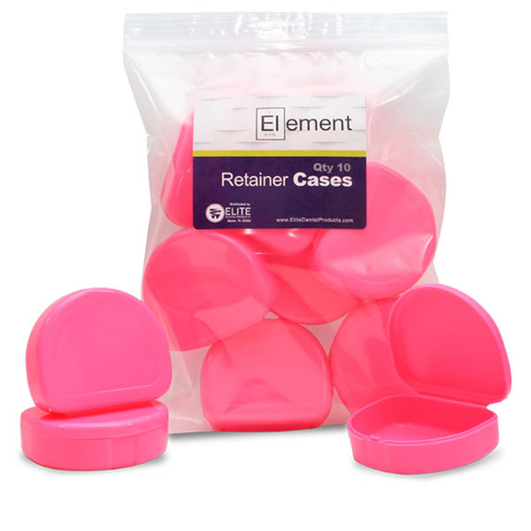 Element Orthodontic Retainer Case - Pink, Case of