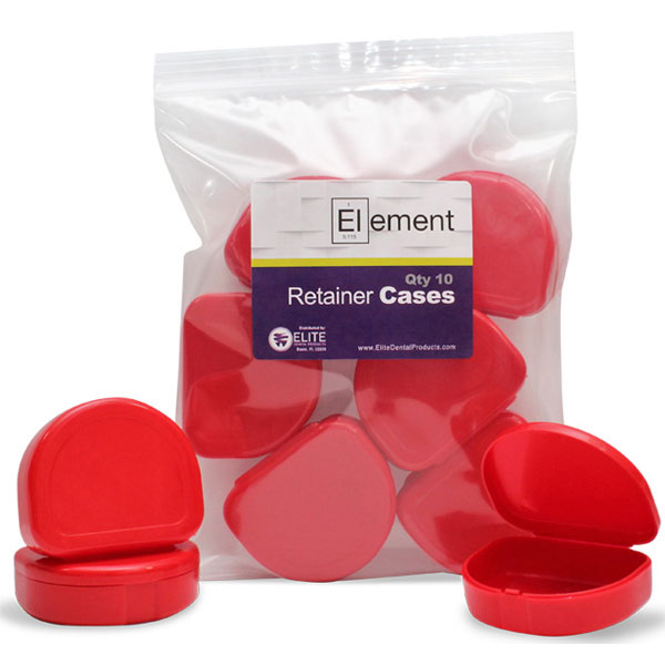 Element Orthodontic Retainer Case - Red, Bag of 1