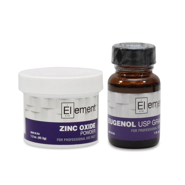 Element Zinc oxide eugenol temporary filling mate