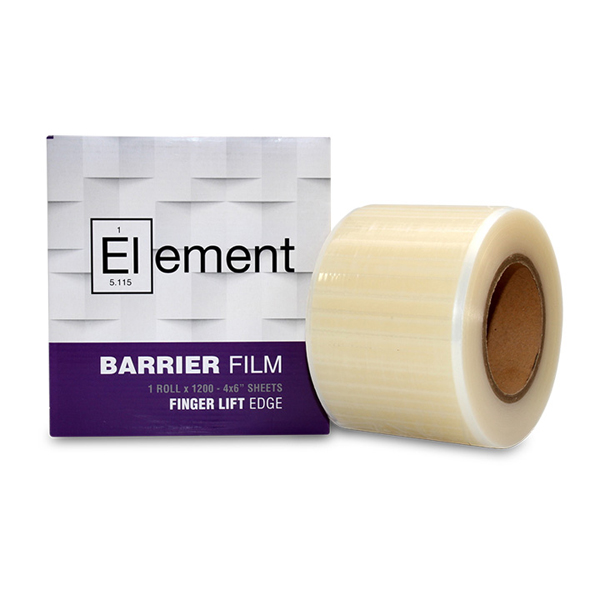 "Element 4"" x 6"" Barrier Film Clear with Finger Lift Edge, roll of 1200 sheets"