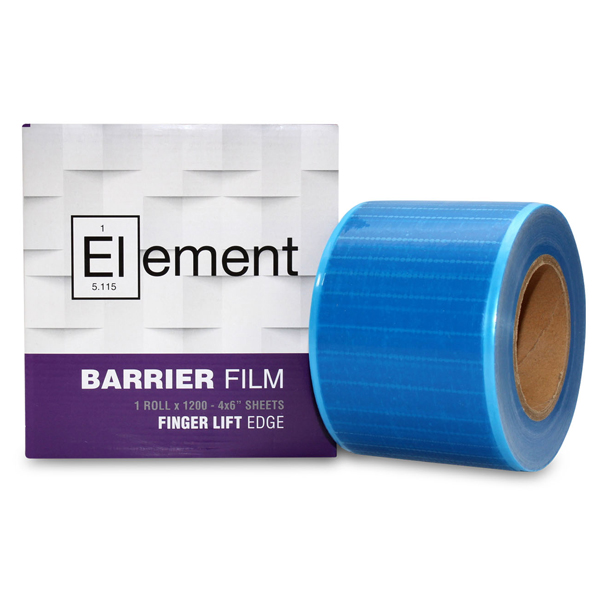 "Element 4"" x 6"" Barrier Film Blue with Finger Lift Edge, 8 rolls per case, 1200"